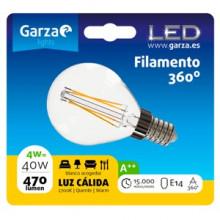 Garza Bombilla LED filamentos esférica E14 4W